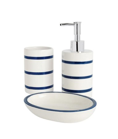 Bathroom Range - Navy Stripe