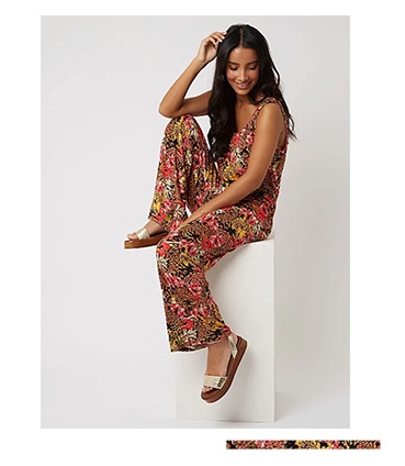 Make a bold statement in a floral jumpsuit