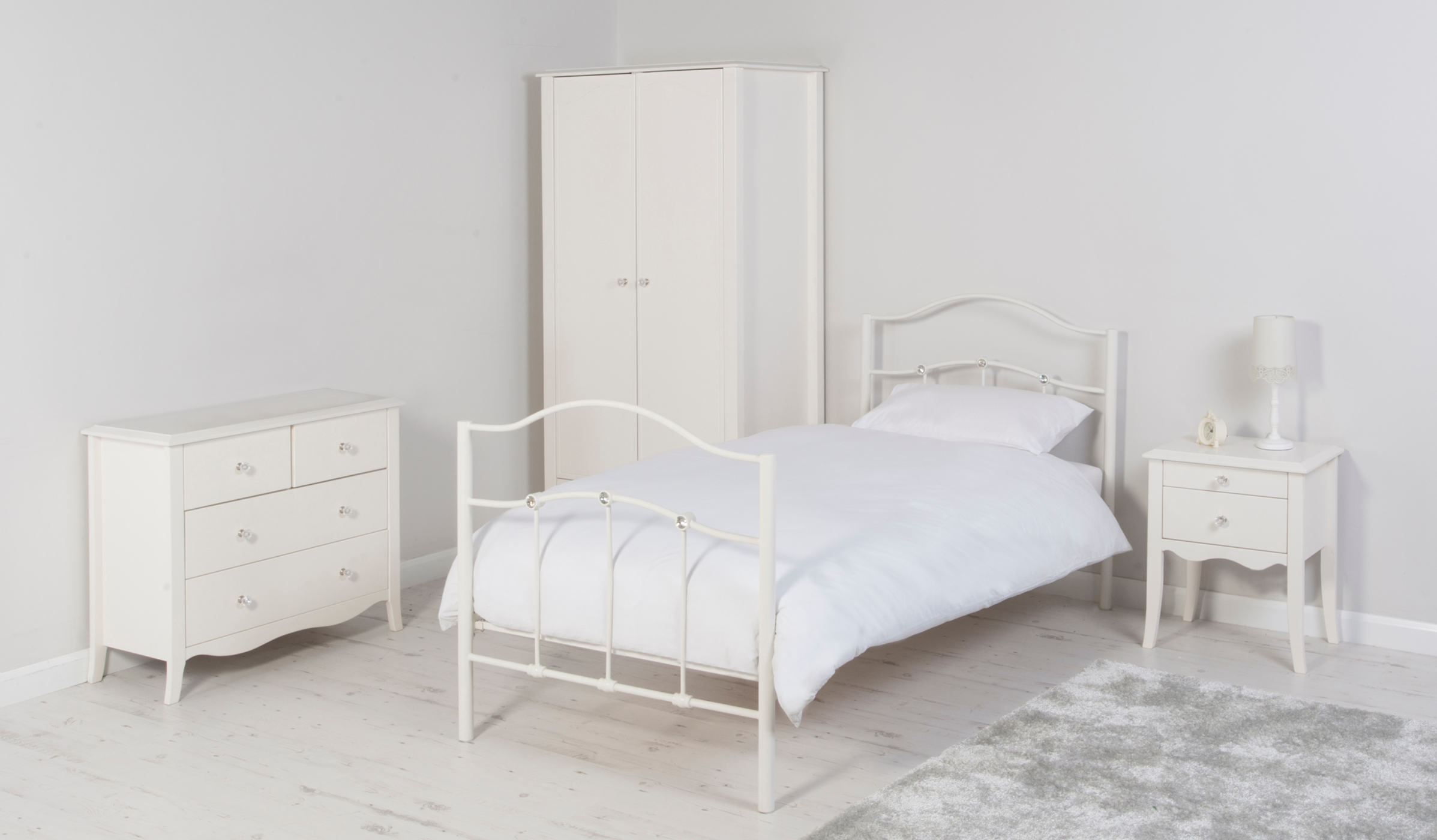 Tia Kids Furniture Range Ivory Kids Beds