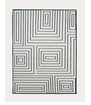 Monochrome labyrinth rug