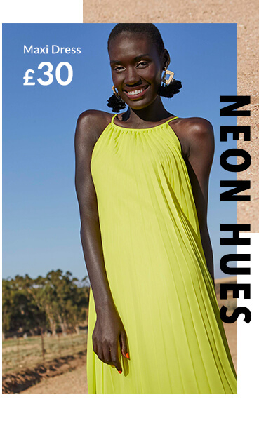 Channel a neon yellow maxi dress