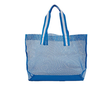 Whether you're hitting the beach or the shops, this large mesh bag is a must