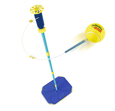Swing into action with the Championship Swingball set, perfect for all surfaces