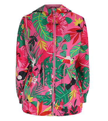 This pink mac with tropical print will keep them dry if it starts to rain