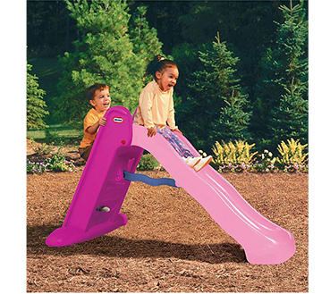 This Little Tikes slide features easy steps for climbing, a gentle slope, and a wide base for stability