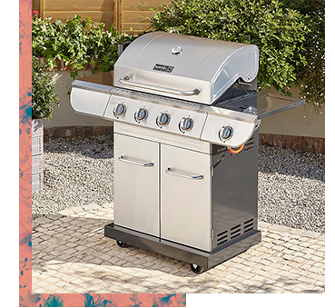 The Nexgrill BBQ features an innovative 2 cooking grate system, so you can choose between grilling, broiling, baking and roasting