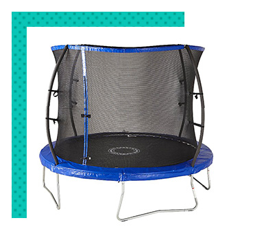 Trampolines are a great way to encourage healthy outdoor fun