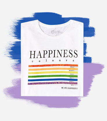 With a T-shirt this colourful it's impossible not to beam with Pride