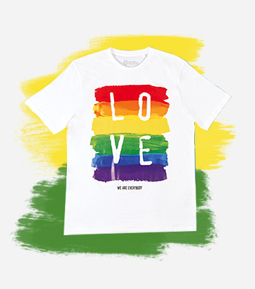 Love is love, and nothing says it more than this rainbow T-shirt