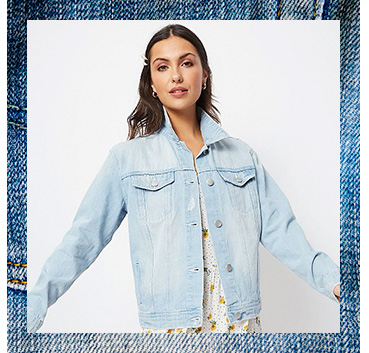 This light wash blue denim jacket is the perfect everyday layer
