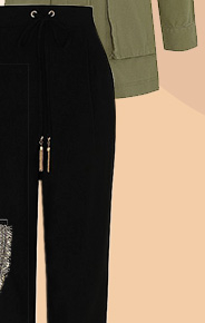 Comfortable and breezy, a pair of black culottes are the perfect travel companion