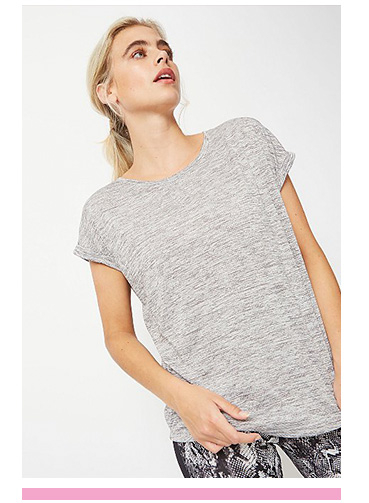 This grey T-shirt is perfect for the gym and beyond