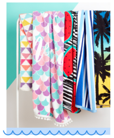 Make sure you've got a colourful towel if you're heading to the beach