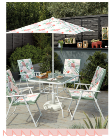 Enjoy outdoor dining with a 6 piece patio set