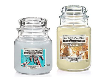 Two scented Yankee Candles