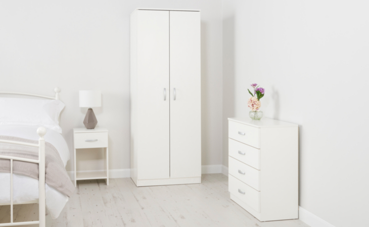 george home marlow bedroom furniture range - white ash effect   view