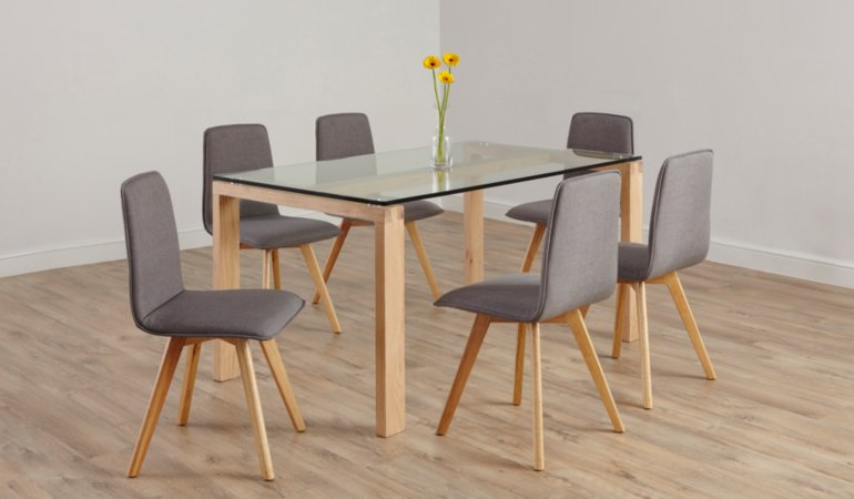 Winston Living & Dining Furniture Range - Oak and Glass