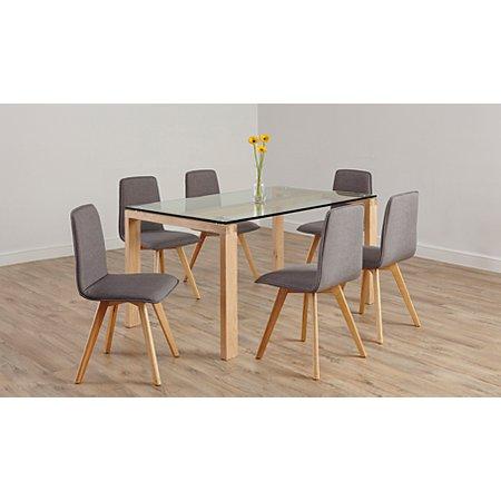 Winston Living Dining Furniture Range Oak And Glass