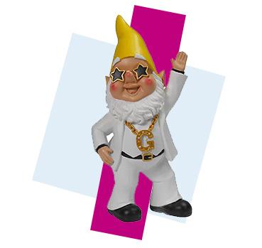 Start the garden party with this fun novelty disco garden gnome