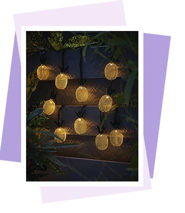 Turn your garden into a bright tropical paradise with these pineapple solar-powered lights