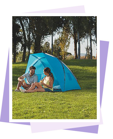 This Ozark Trail tent features a sewn-in groundsheet and single layer for quick and easy pitching
