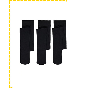 This 3 pack of black opaque tights are made with soft fabric for classroom comfort