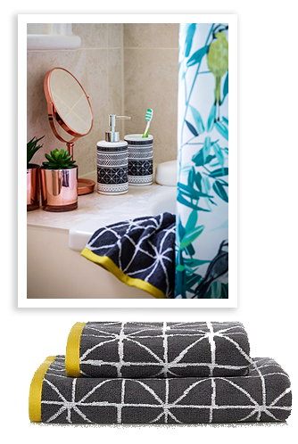 Inject some fresh style in to your bathroom with our beautiful botanical range at george.com