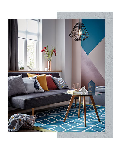 Bring simplicity and style into the living room with our new Scandi home collection