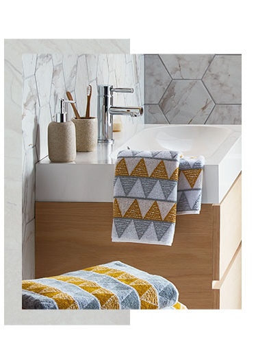 Refresh and recharge the bathroom with our new Scandi home collection