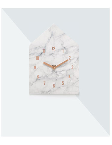 Marble-effect Mantel Clock at George