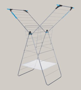 Silver-tone airer.
