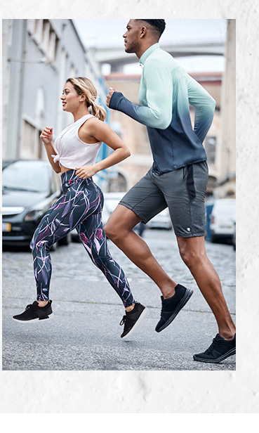 Kaz and Theo running, wearing George activewear