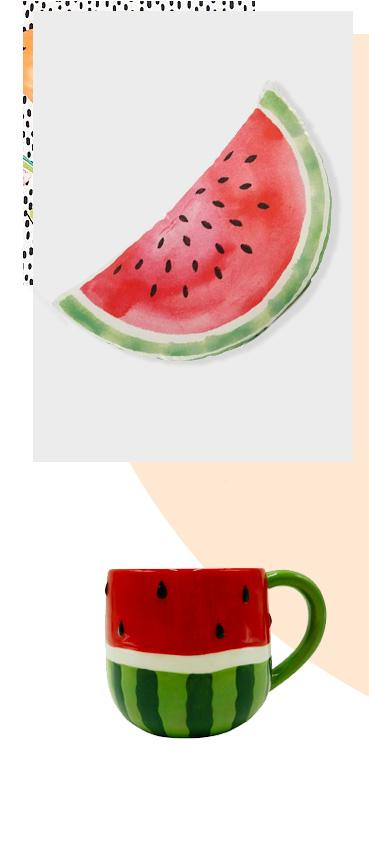 Shop our watermelon home accessories range