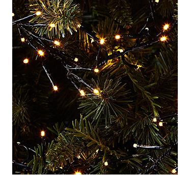 Warm Christmas lights on a Christmas tree