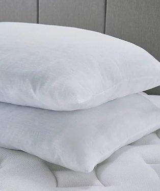 Soft touch soft comfort pillow pair.