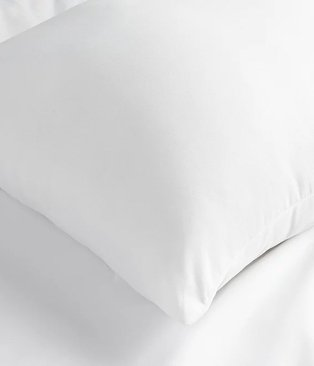 White pillow.