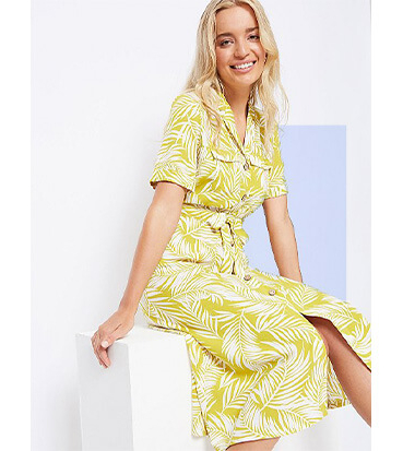 Liven up your summer wardrobe with a yellow floral dress