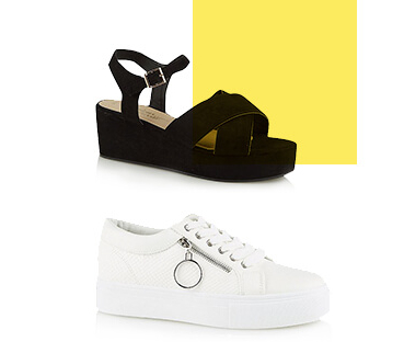 Step into style with a pair of heels or trainers