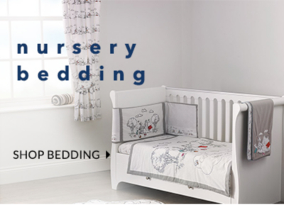 Tuck them in with our nursery bedding range at George.com