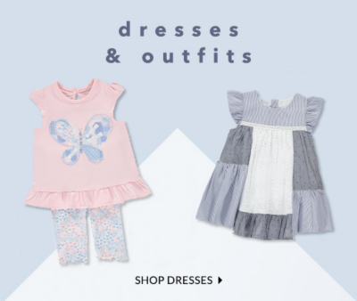 Shop pretty baby dresses and outfits at George.com