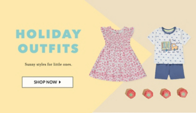 Make the season bright with our baby holiday shop at George.com