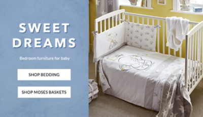 Wish your little one the sweetest of dreams with our baby bedding range