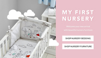 Lull your little one to the Land of Nod with our dreamy nursery bedding range