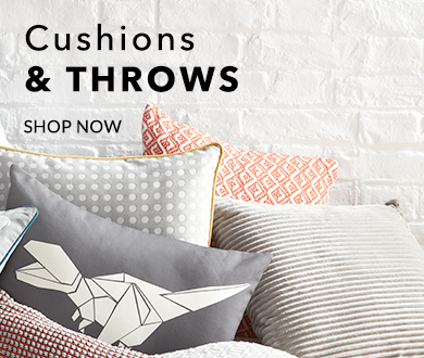 Shop our range of cushions and throws