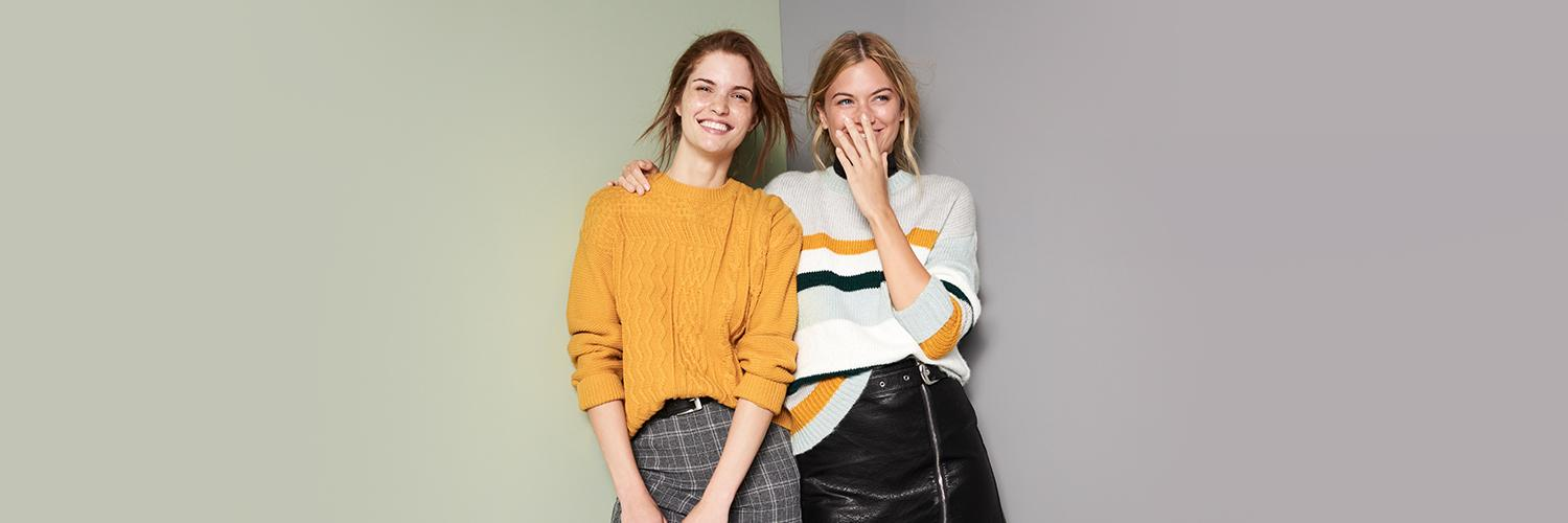 Cosy up with new and stylish knitwear