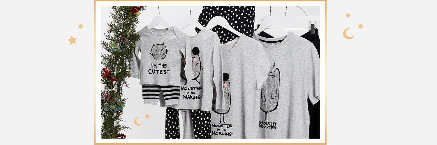 Explore our collection of nightwear for the whole family