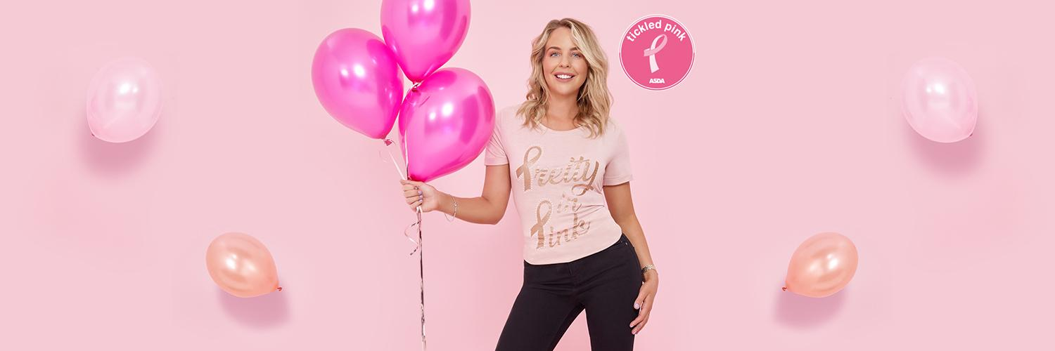 Our Tickled Pink range is made up of beautiful clothing to help raise money for breast cancer charities