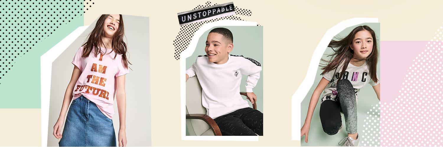 Our range of clothing for teens will help them look and feel their best