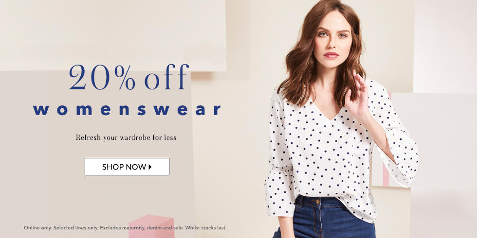 Refresh your look this season with 20% off selected womenswear at George.com