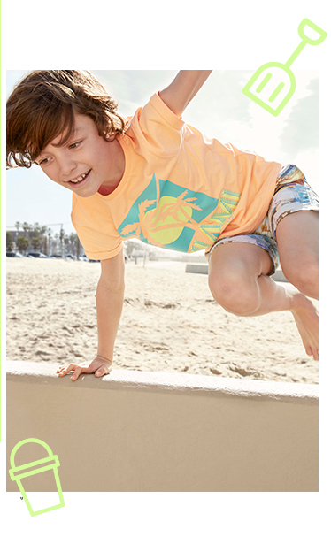Keep them cool in the summer sun with our selection of t-shirts and shorts at George.com